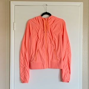 Lululemon Street to Studio Jacket Sz 8 Pop Orange